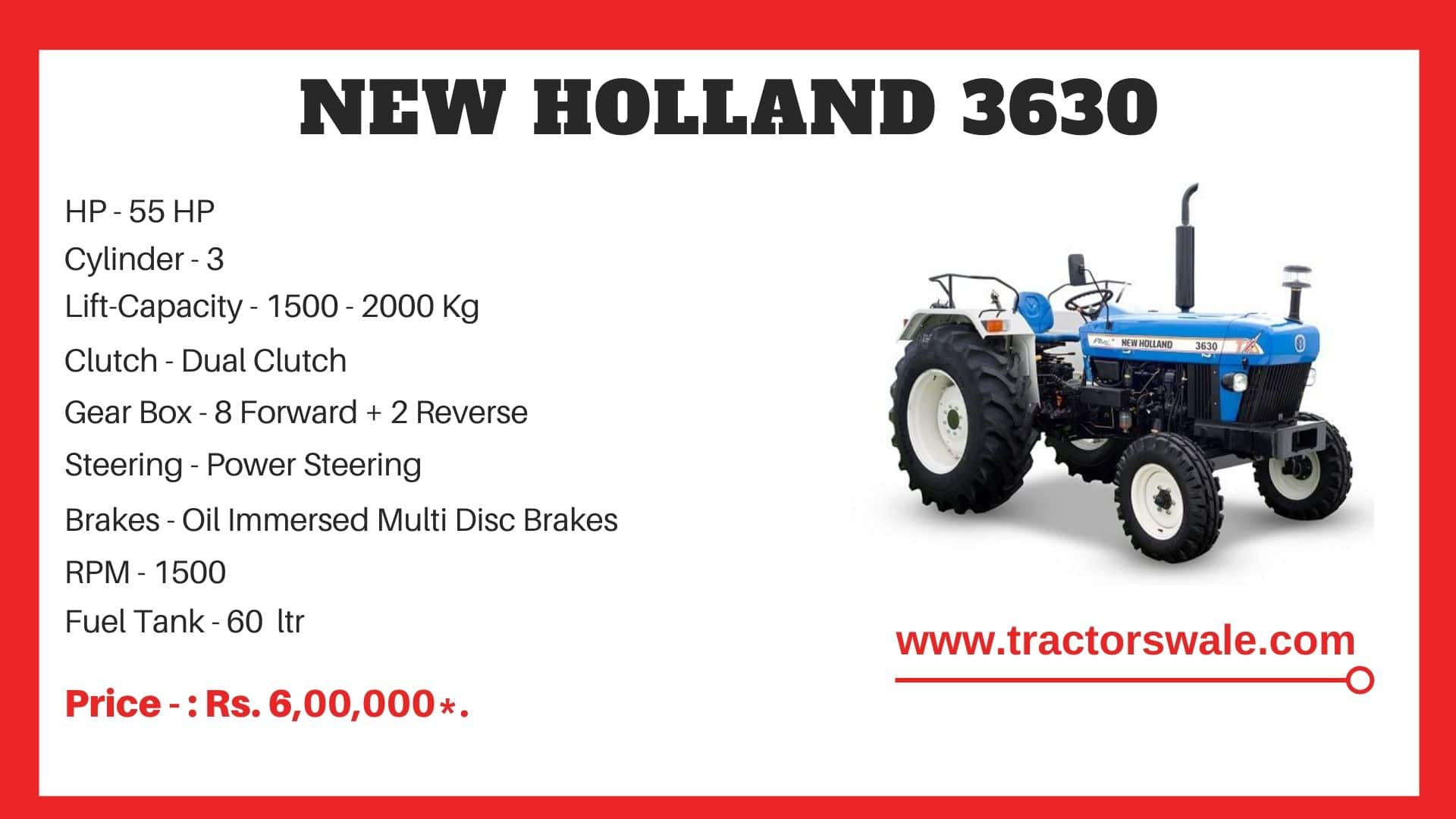 New Holland 3630 tractor
