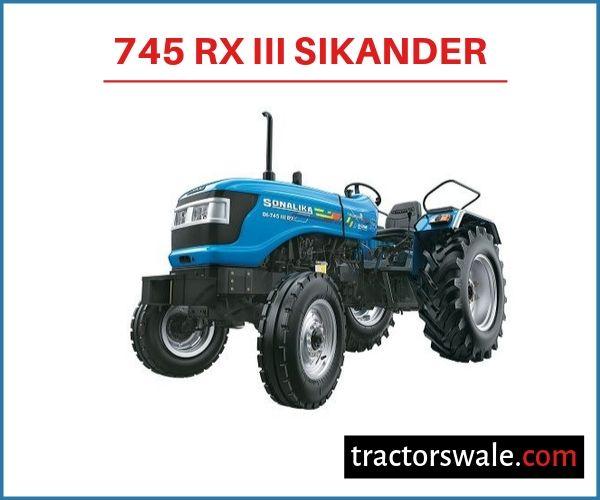 Sonalika 745 RX III Sikander