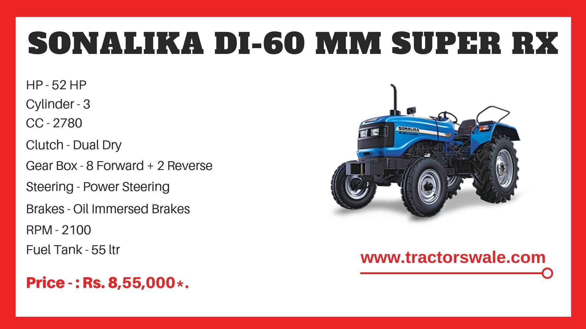 Sonalika DI 60 tractor specs