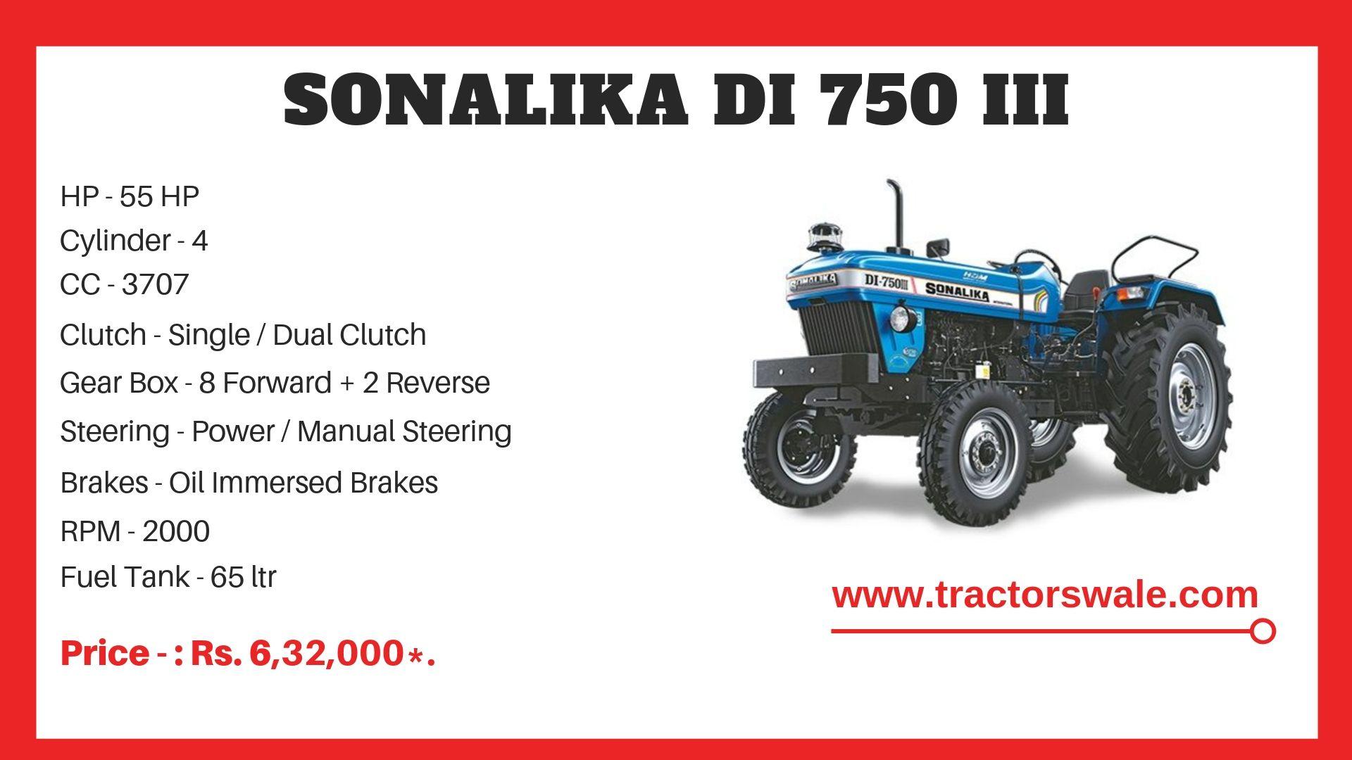 Sonalika DI 750 III Tractor specs