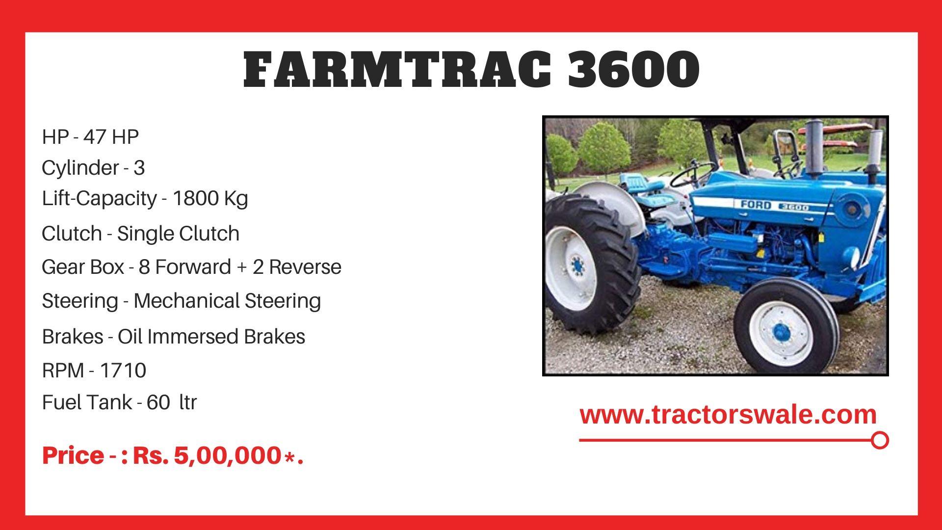 Farmtrac 3600 tractor Price