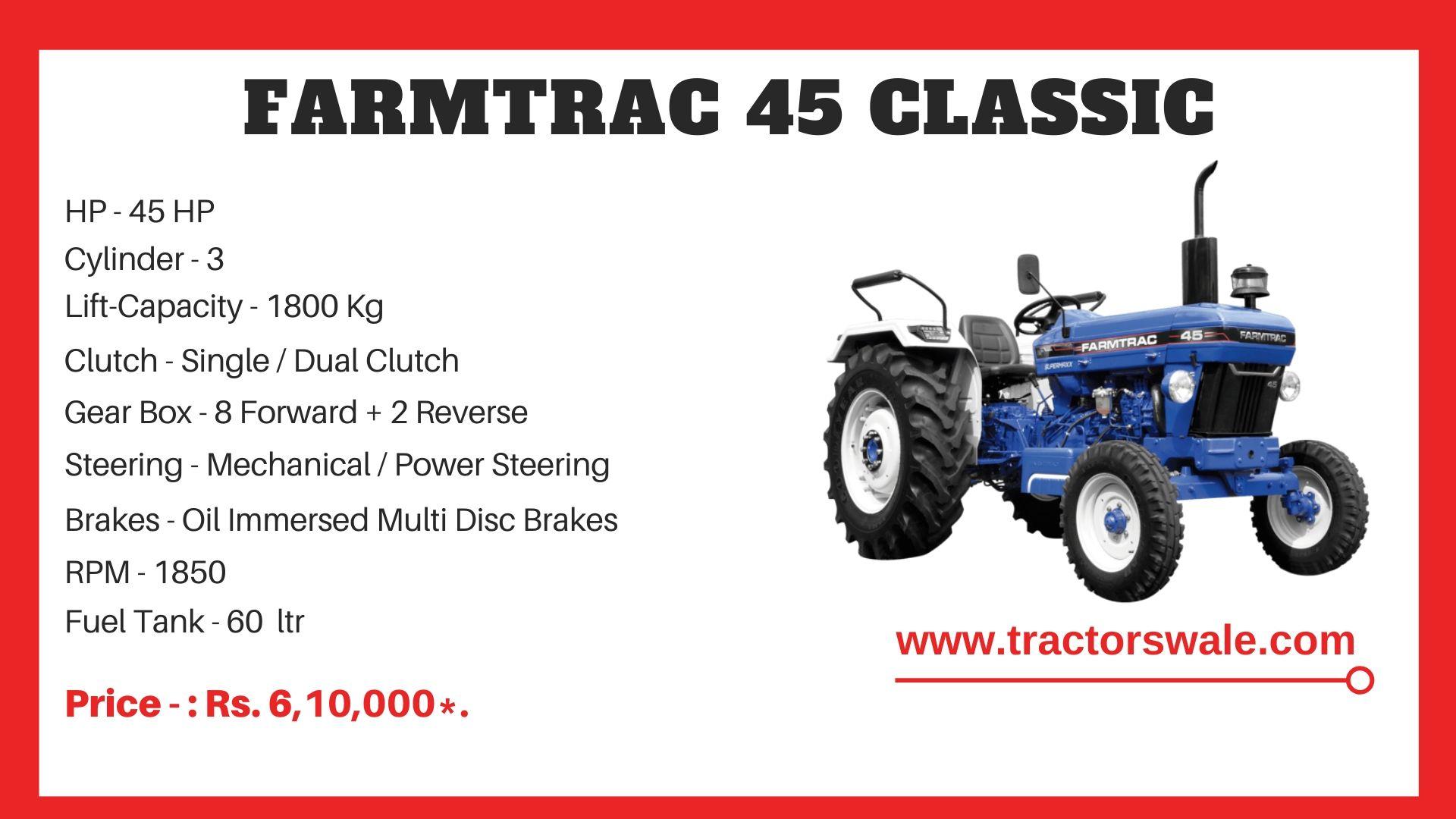 Farmtrac 45 Classic tractor