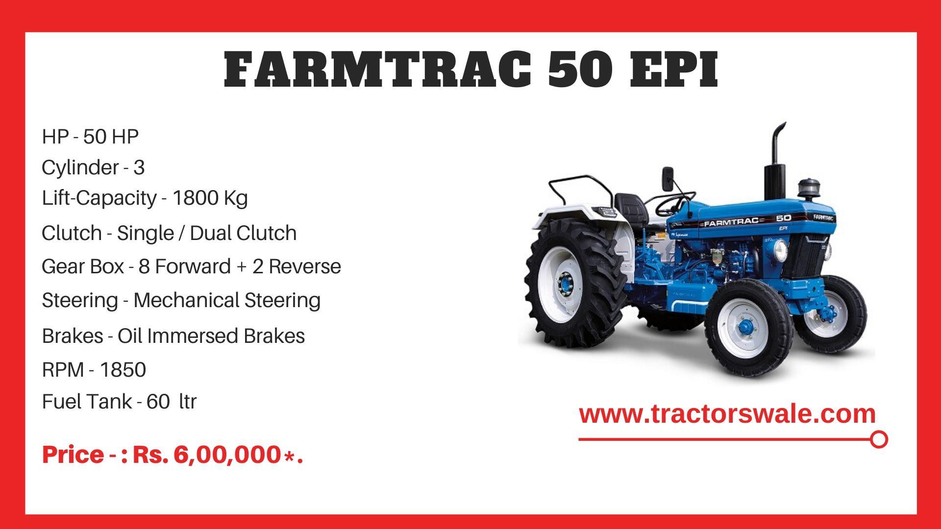 Farmtrac 50 EPI tractor price