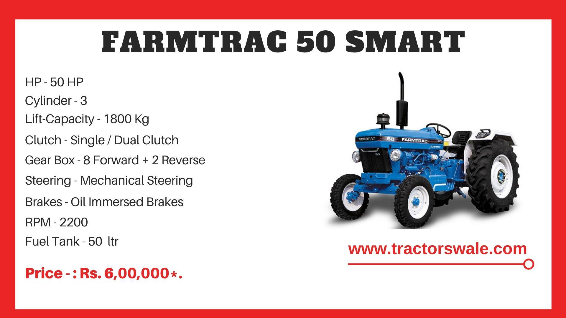 Farmtrac 50 Smart tractor price