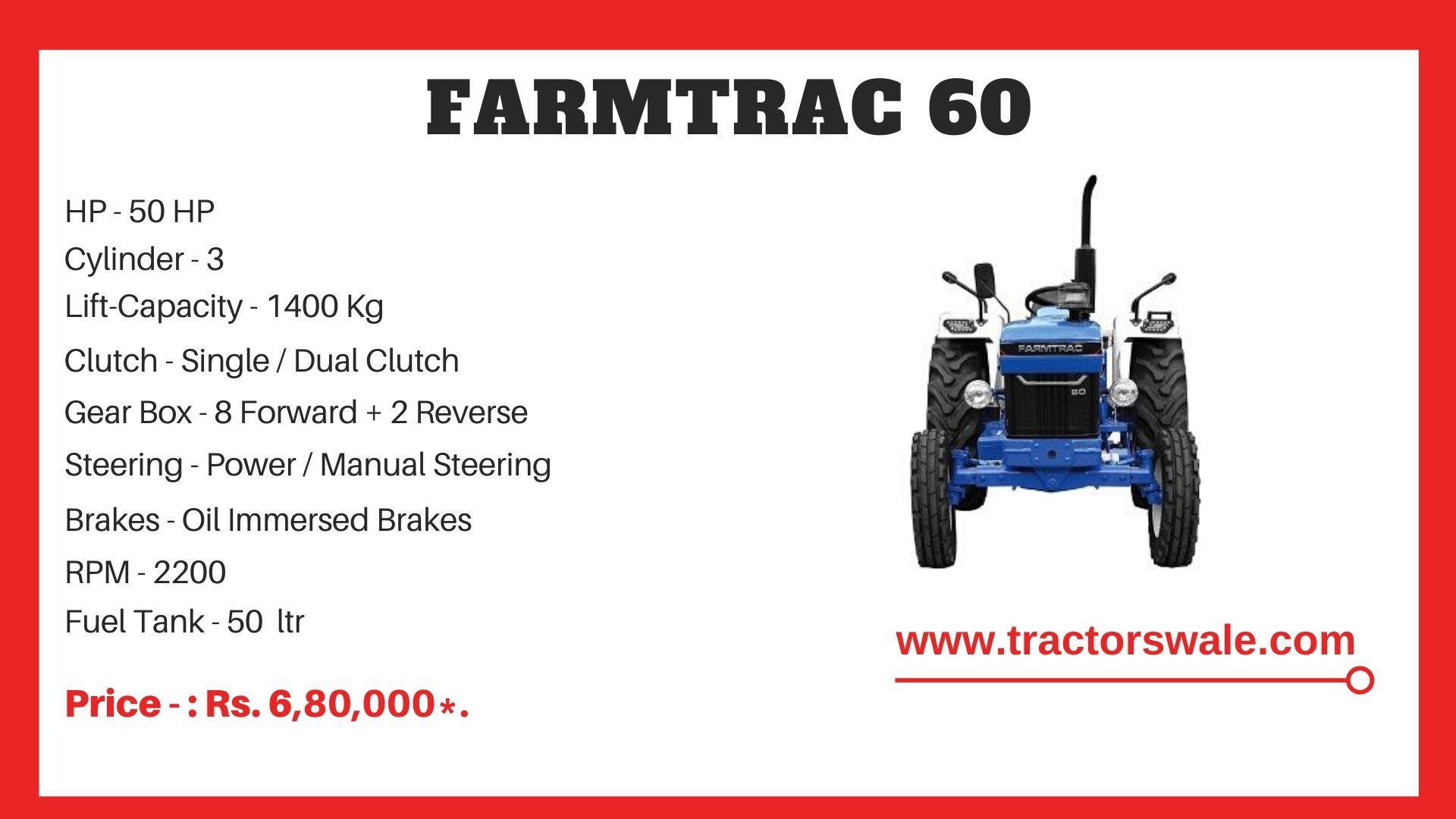 Farmtrac 60 tractor price