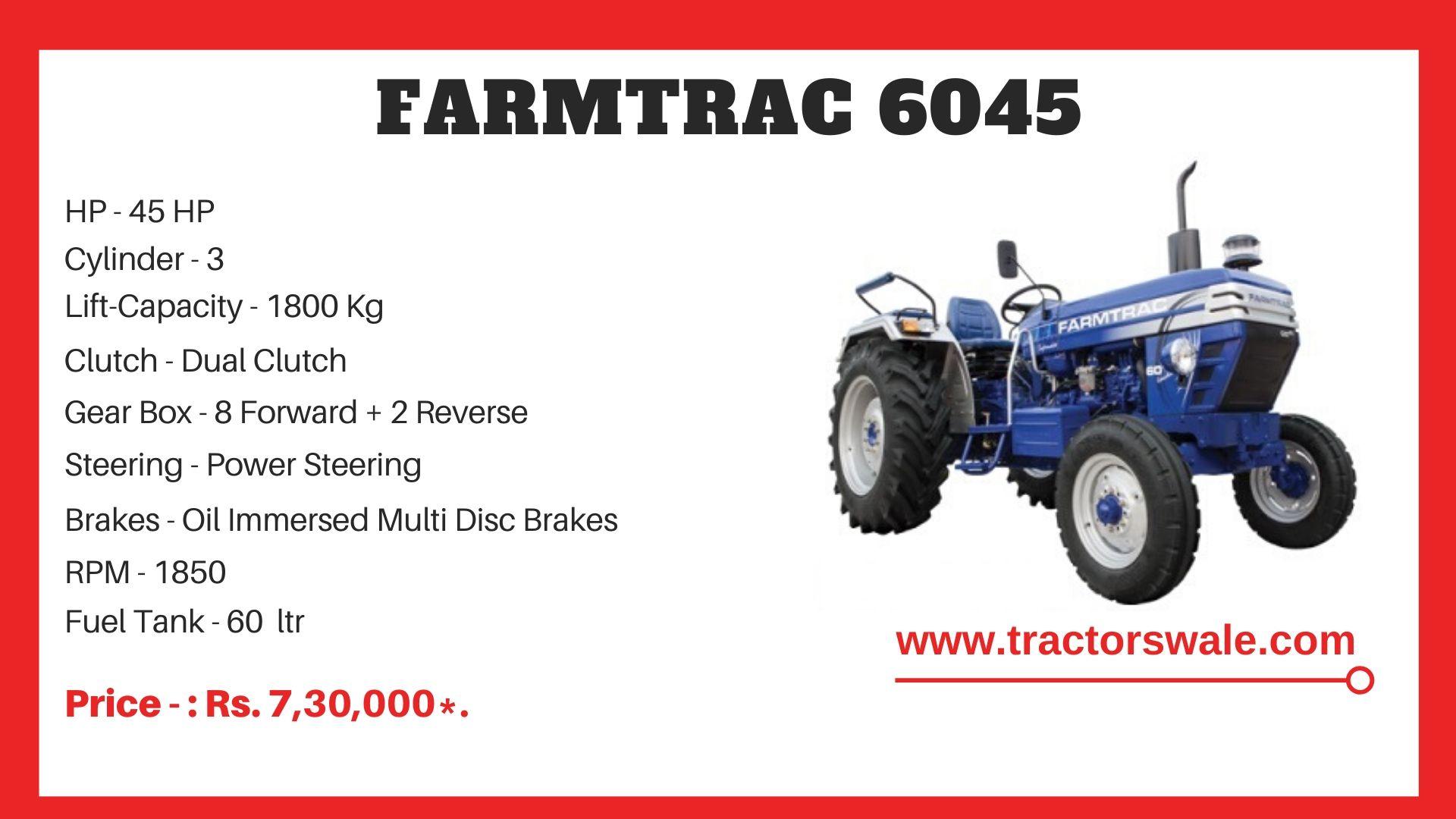 Farmtrac 6045 tractor price