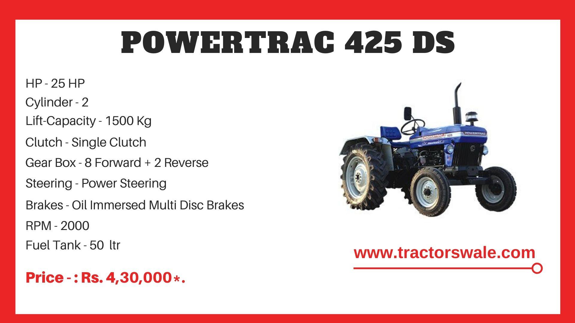 PowerTrac 425 DS Tractor Price