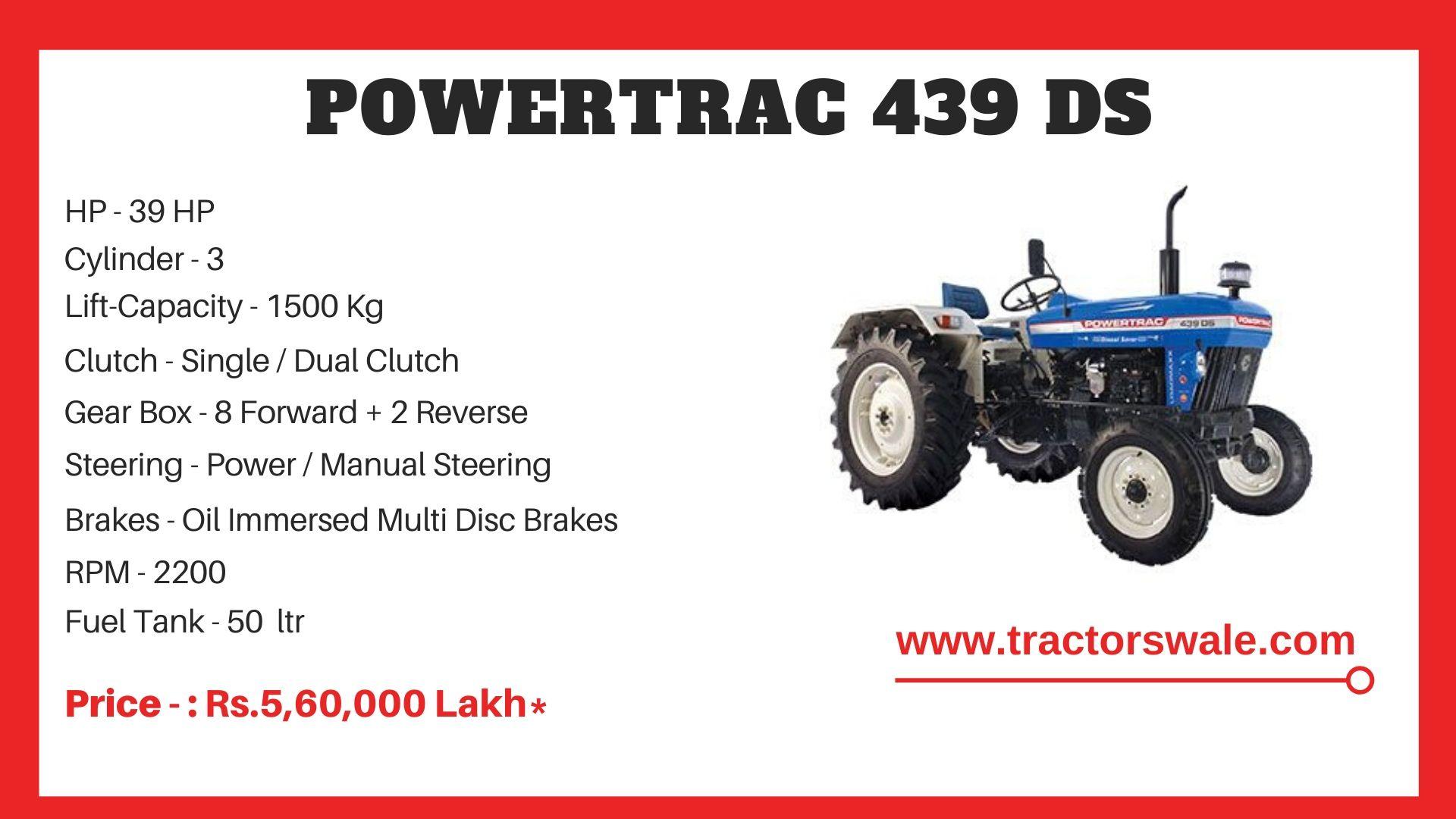 PowerTrac 439 DS Tractor Price