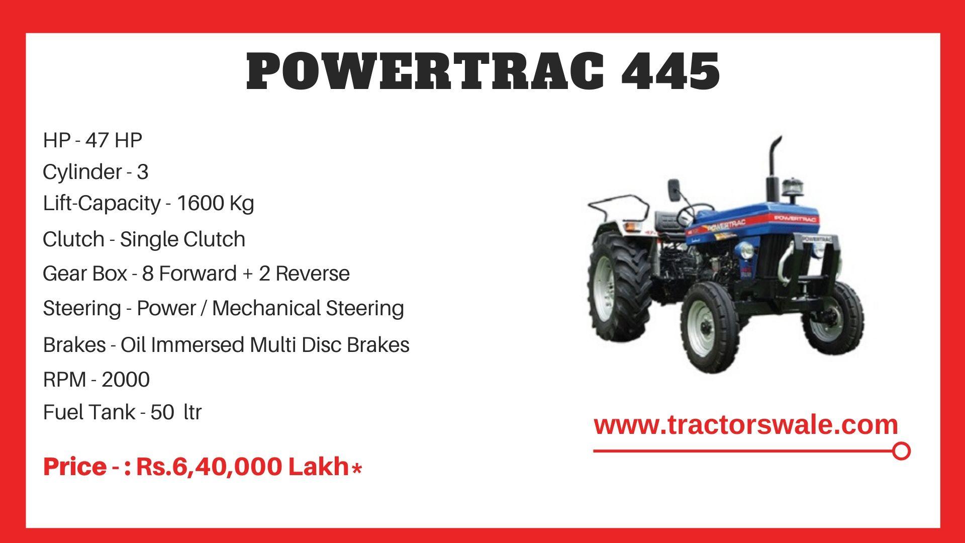 PowerTrac 445 tractor price