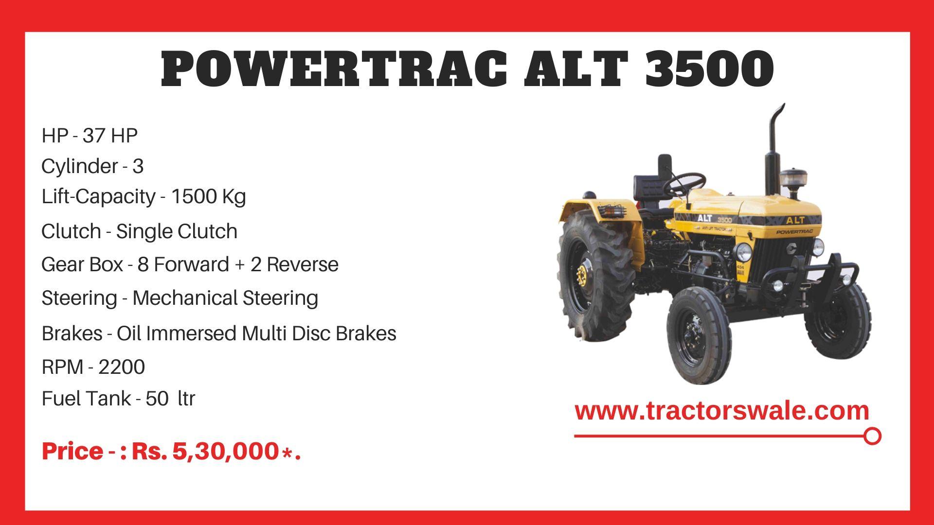 PowerTrac ALT 3500 Tractor Price