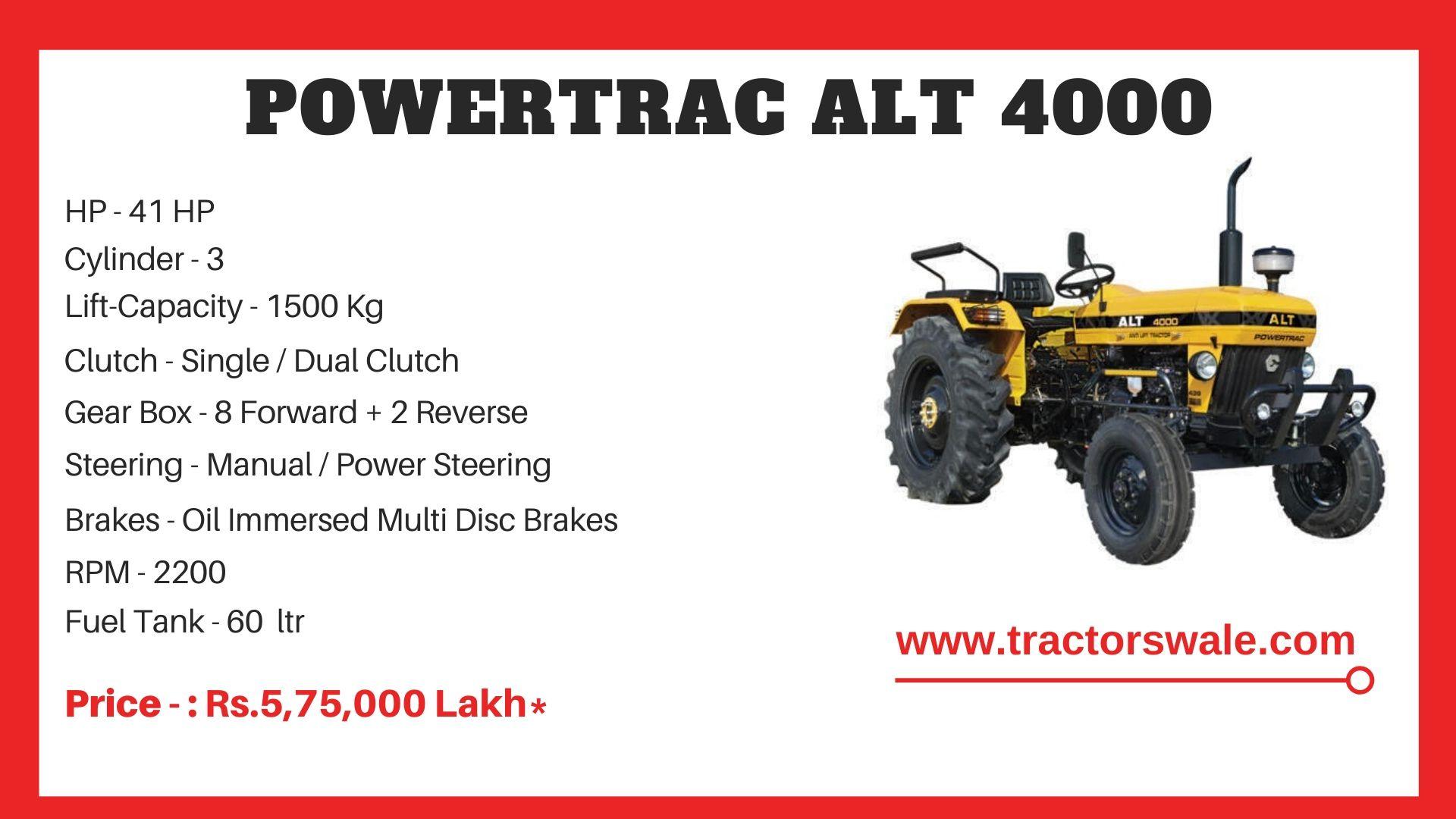 PowerTrac ALT 4000 tractor price