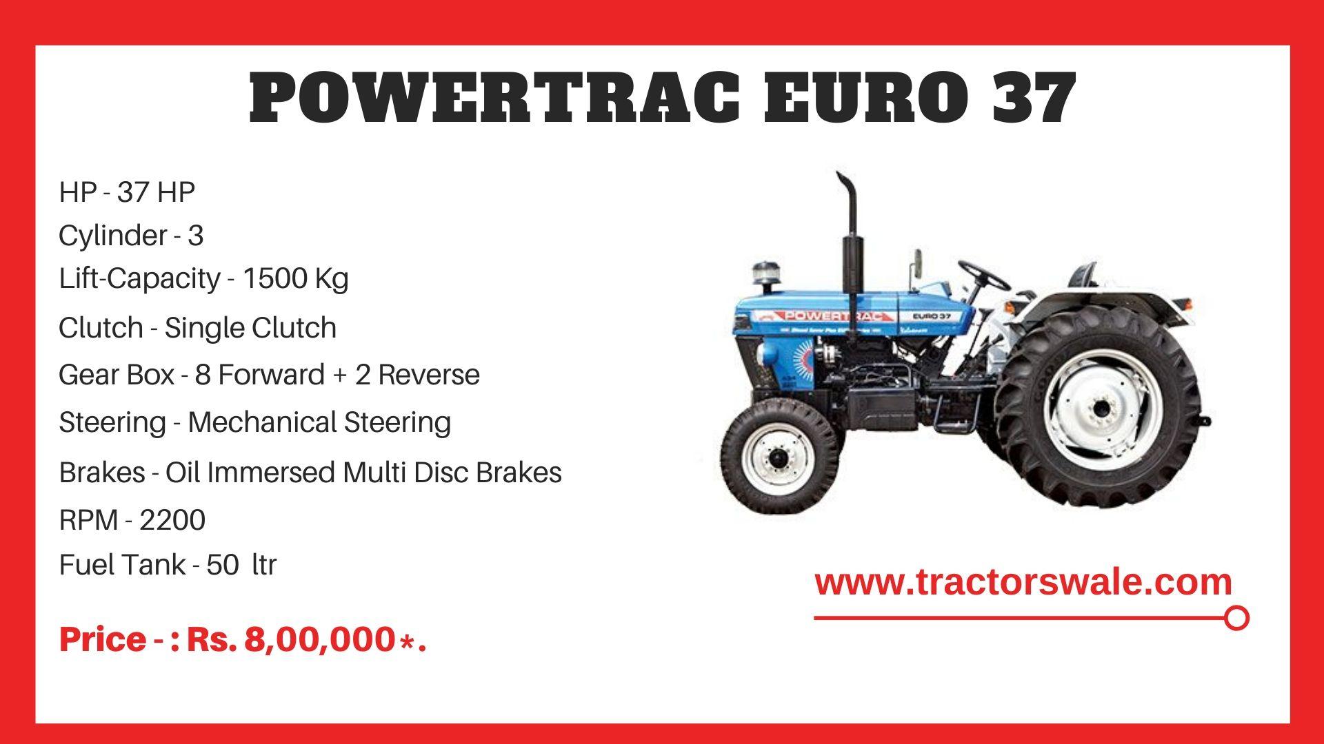 PowerTrac Euro 37 tractor price