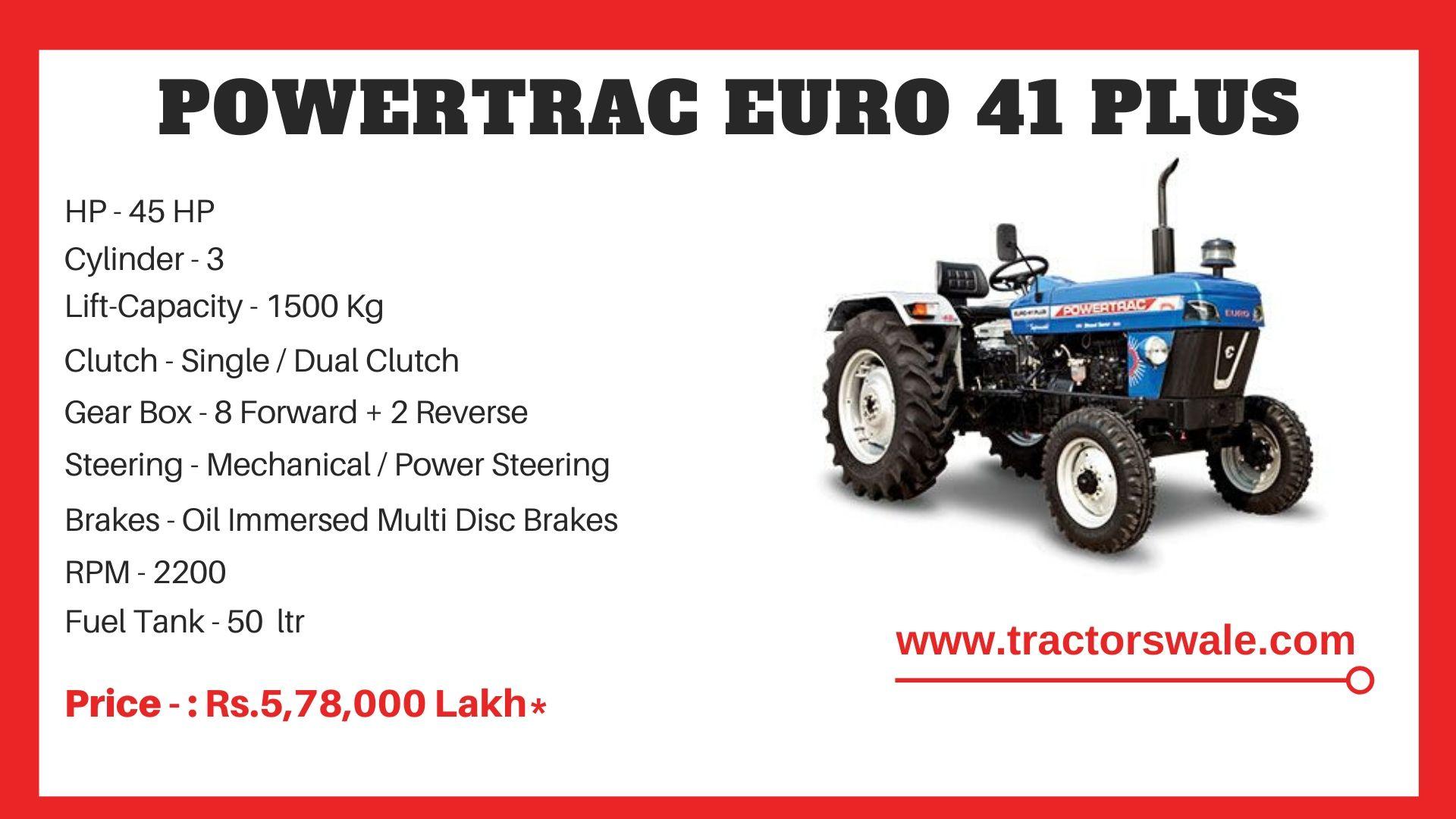 PowerTrac Euro 41 Plus Tractor Price
