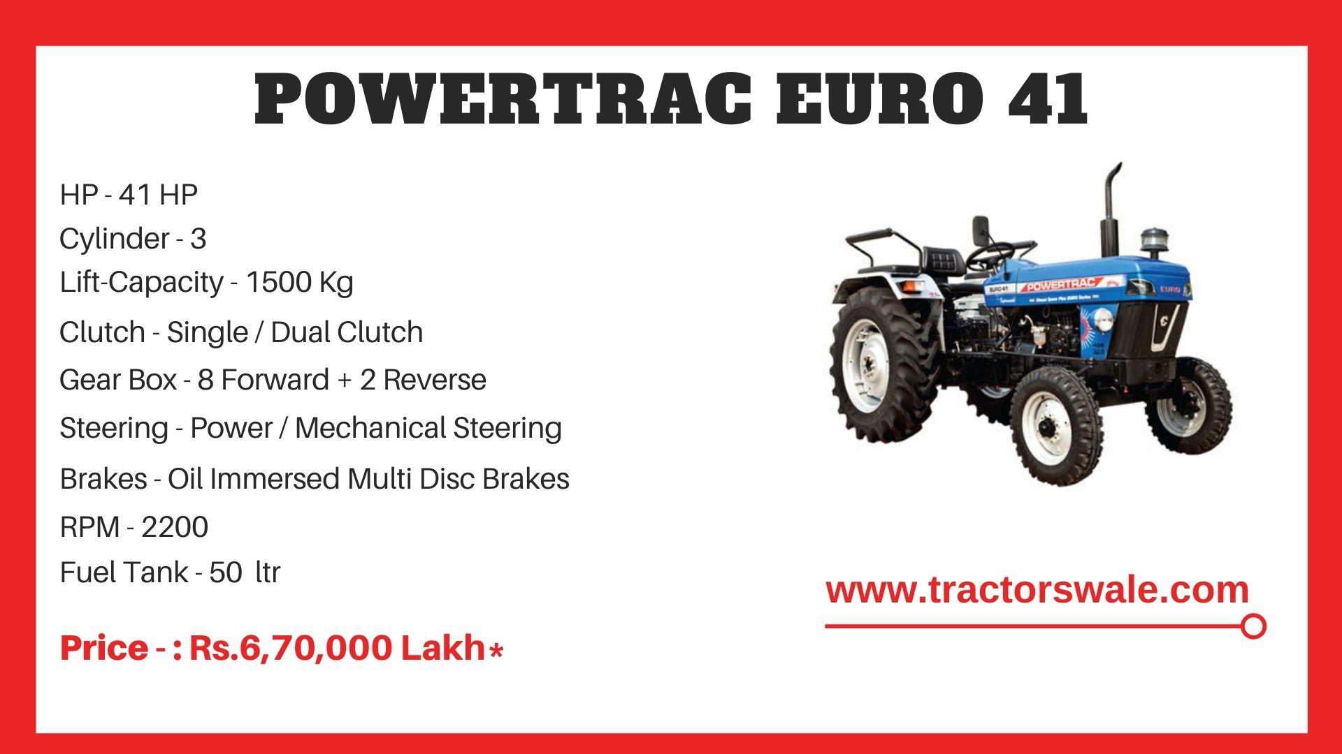 PowerTrac Euro 41 tractor price