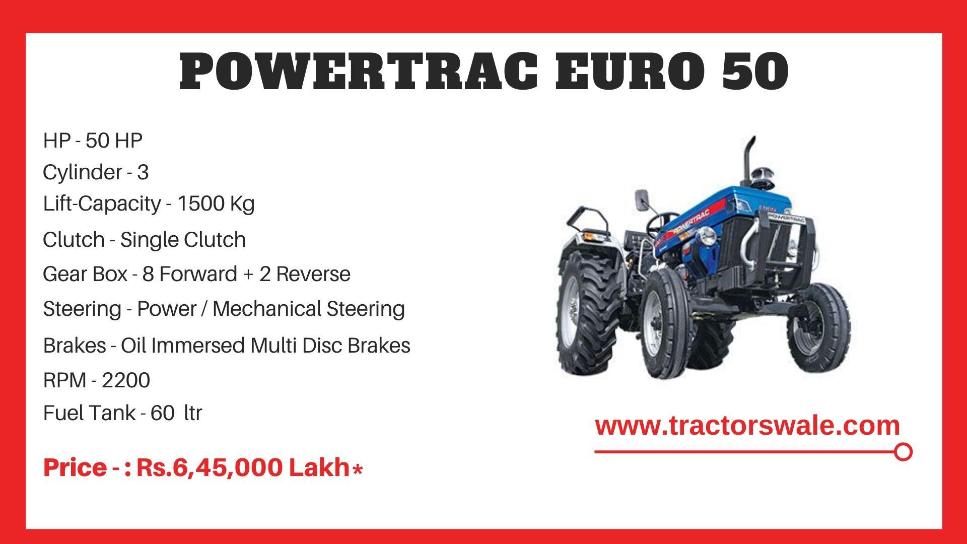 PowerTrac Euro 50 tractor price