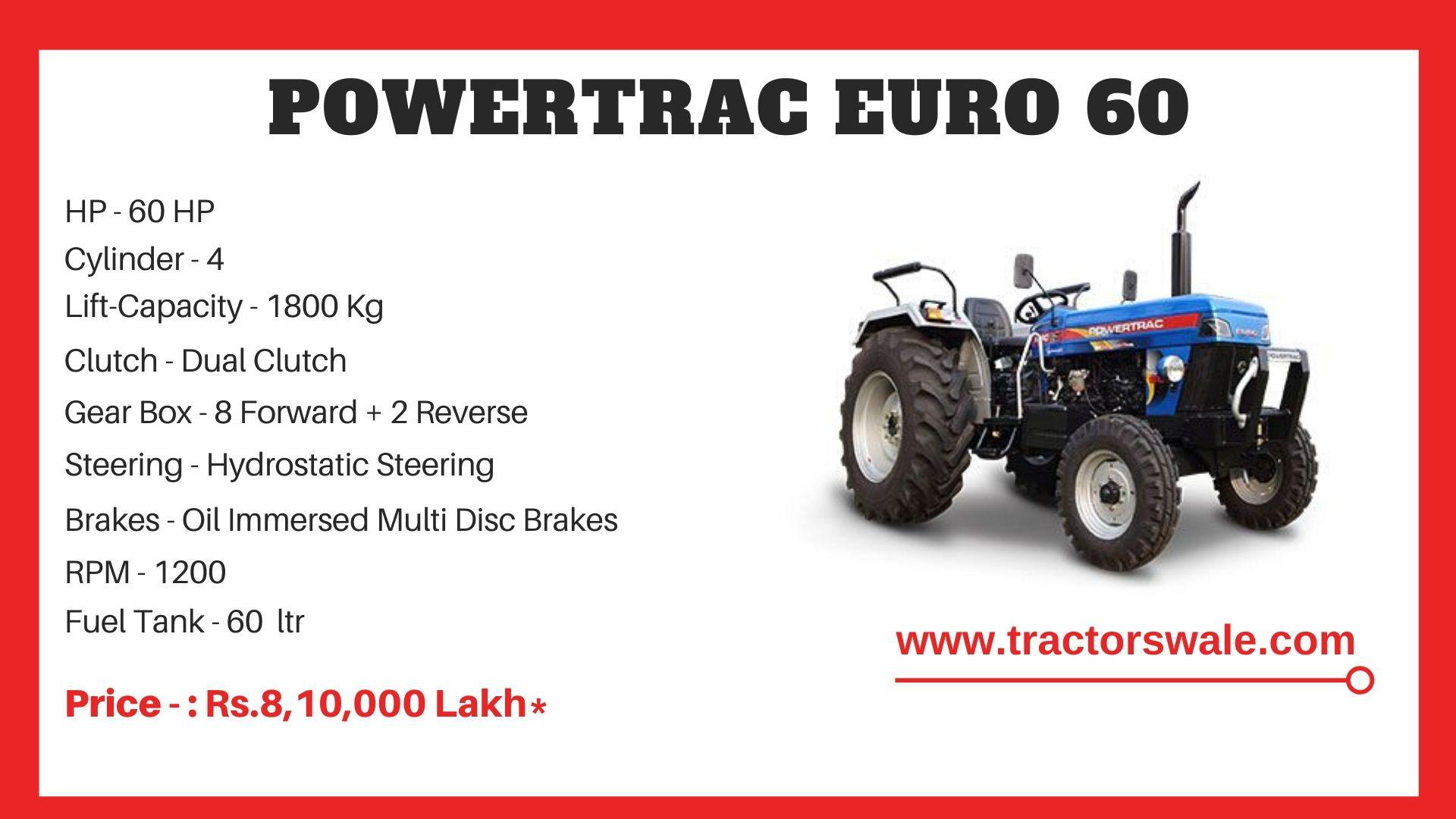 PowerTrac Euro 60 tractor Price