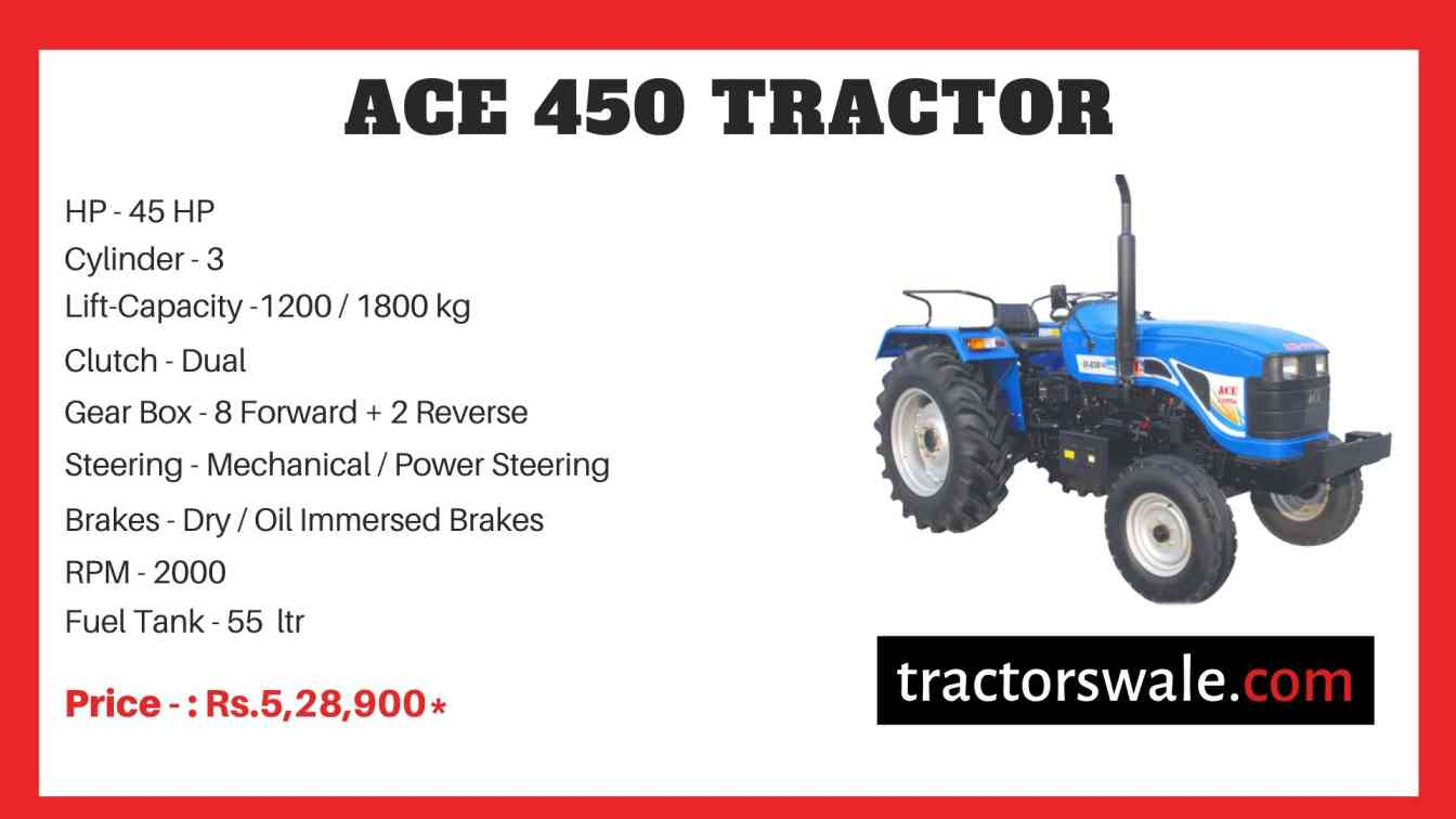 ACE 450 Tractor Price