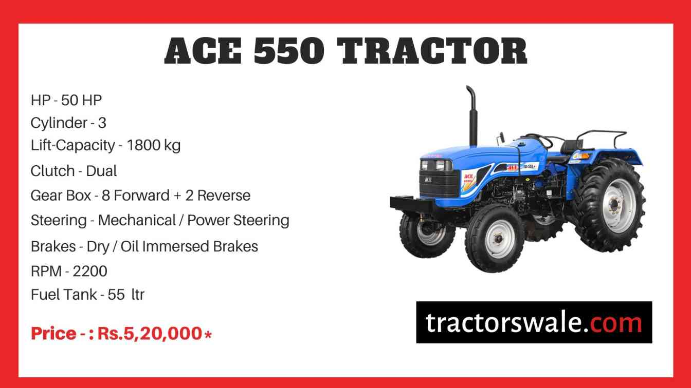 ACE 550 Tractor Price