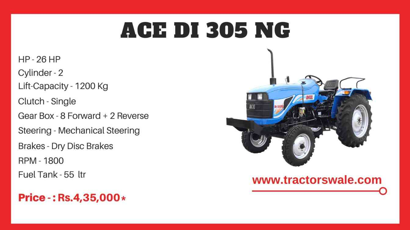 ACE DI 305 NG Tractor Price