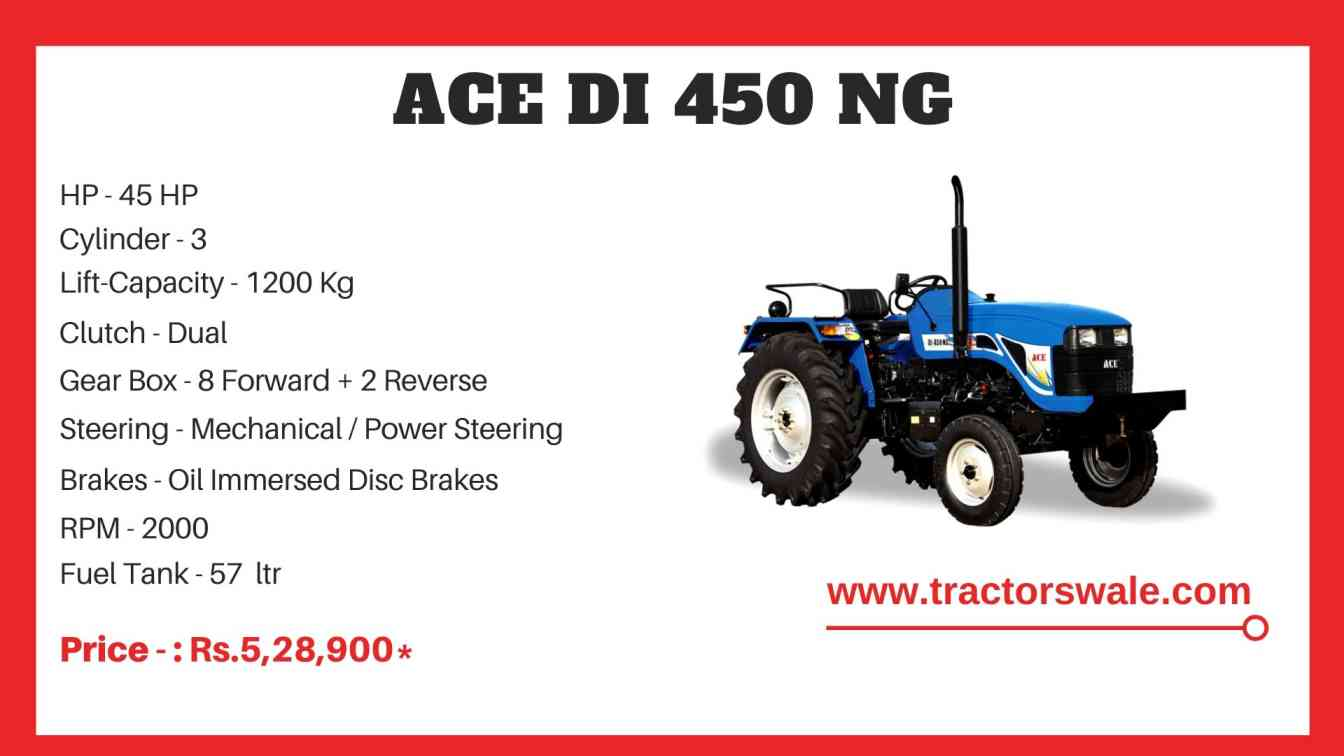 ACE DI 450 NG Tractor Price