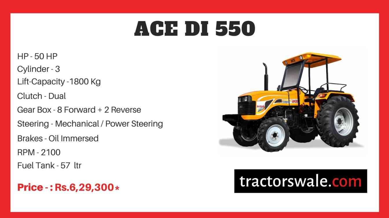 ACE DI 550 Tractor Price