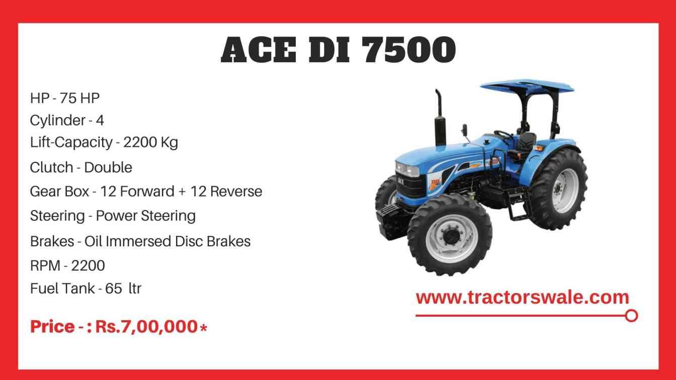 ACE DI 7500 Tractor Price