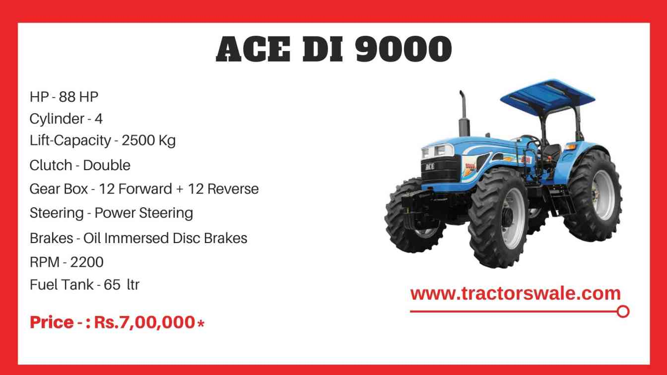 ACE DI 9000 Tractor Price Specification