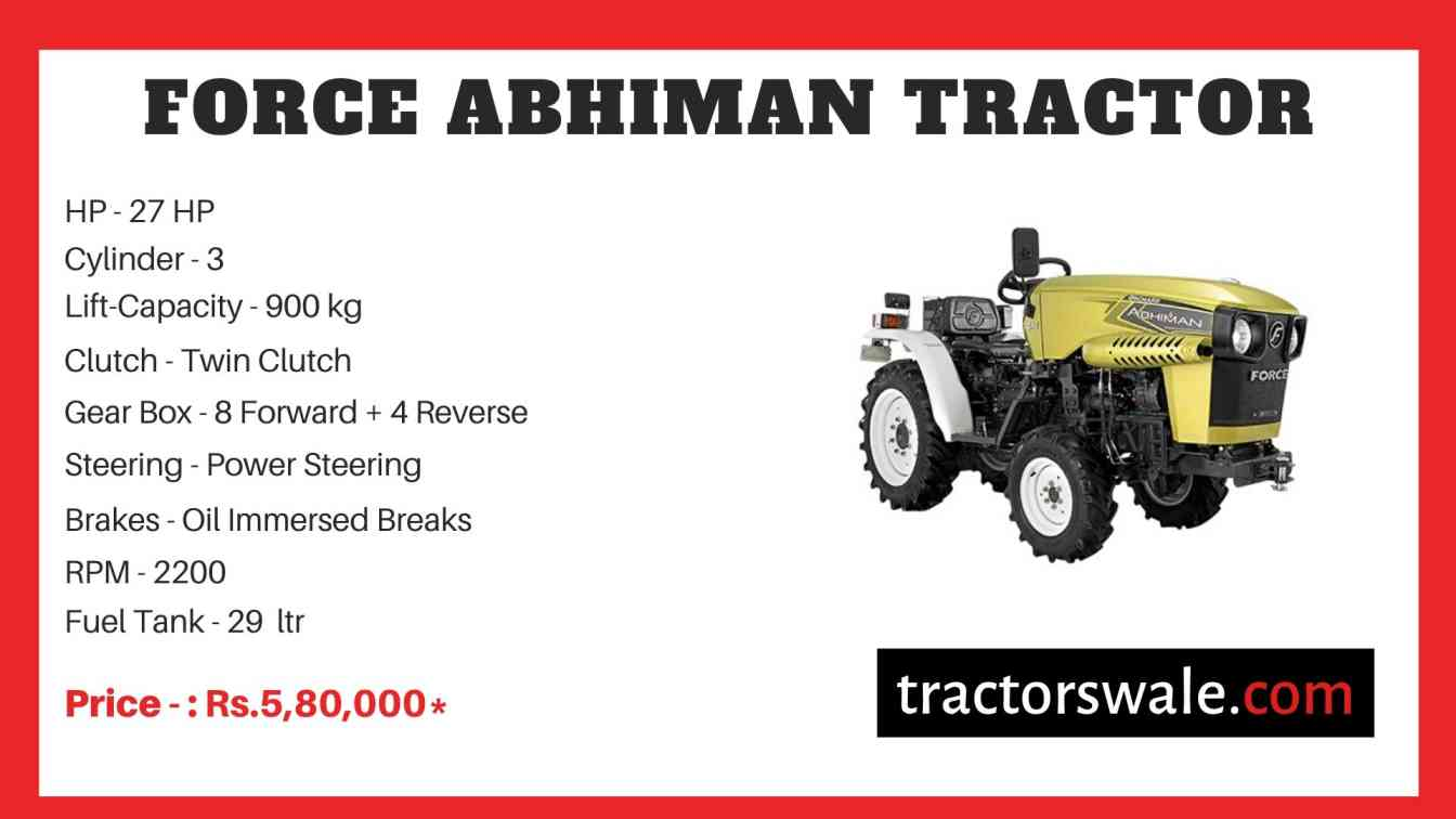 Force ABHIMAN Tractor Price