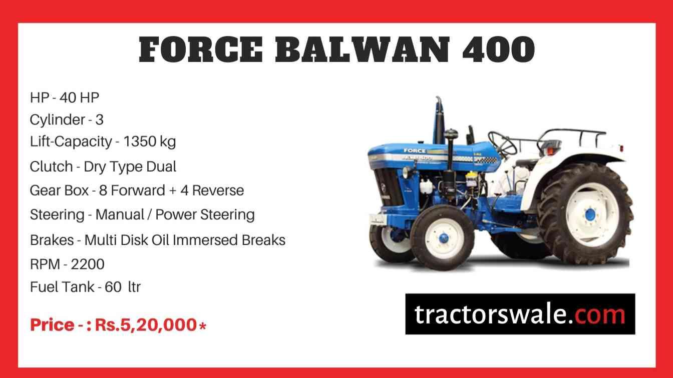 Force BALWAN 400 Tractor Price