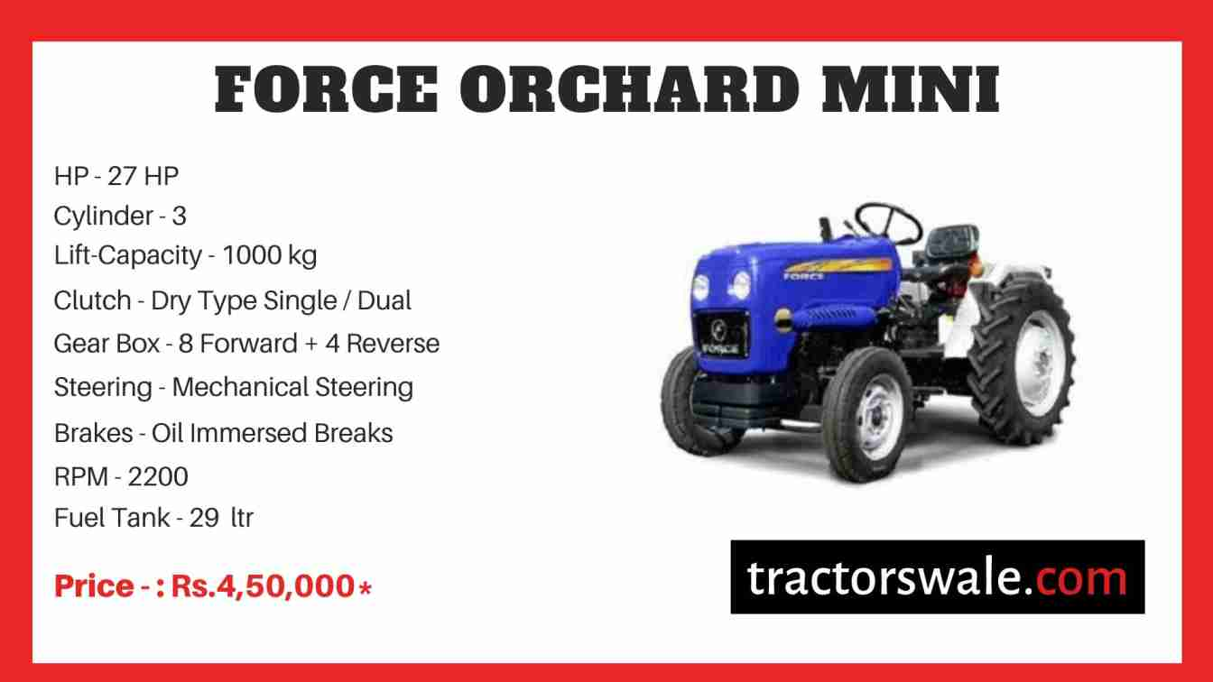 Force ORCHARD MINI Tractor Price
