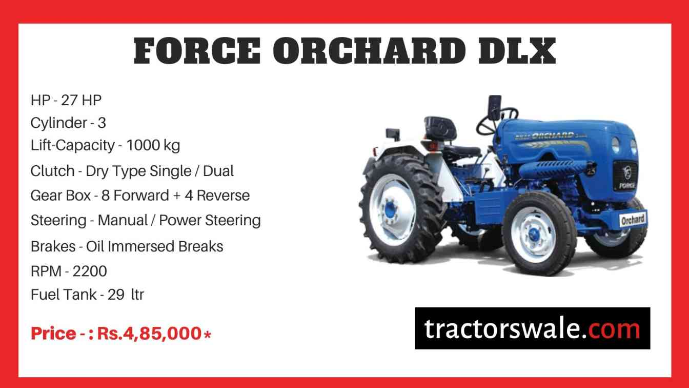 Force Orchard DLX Tractor Price