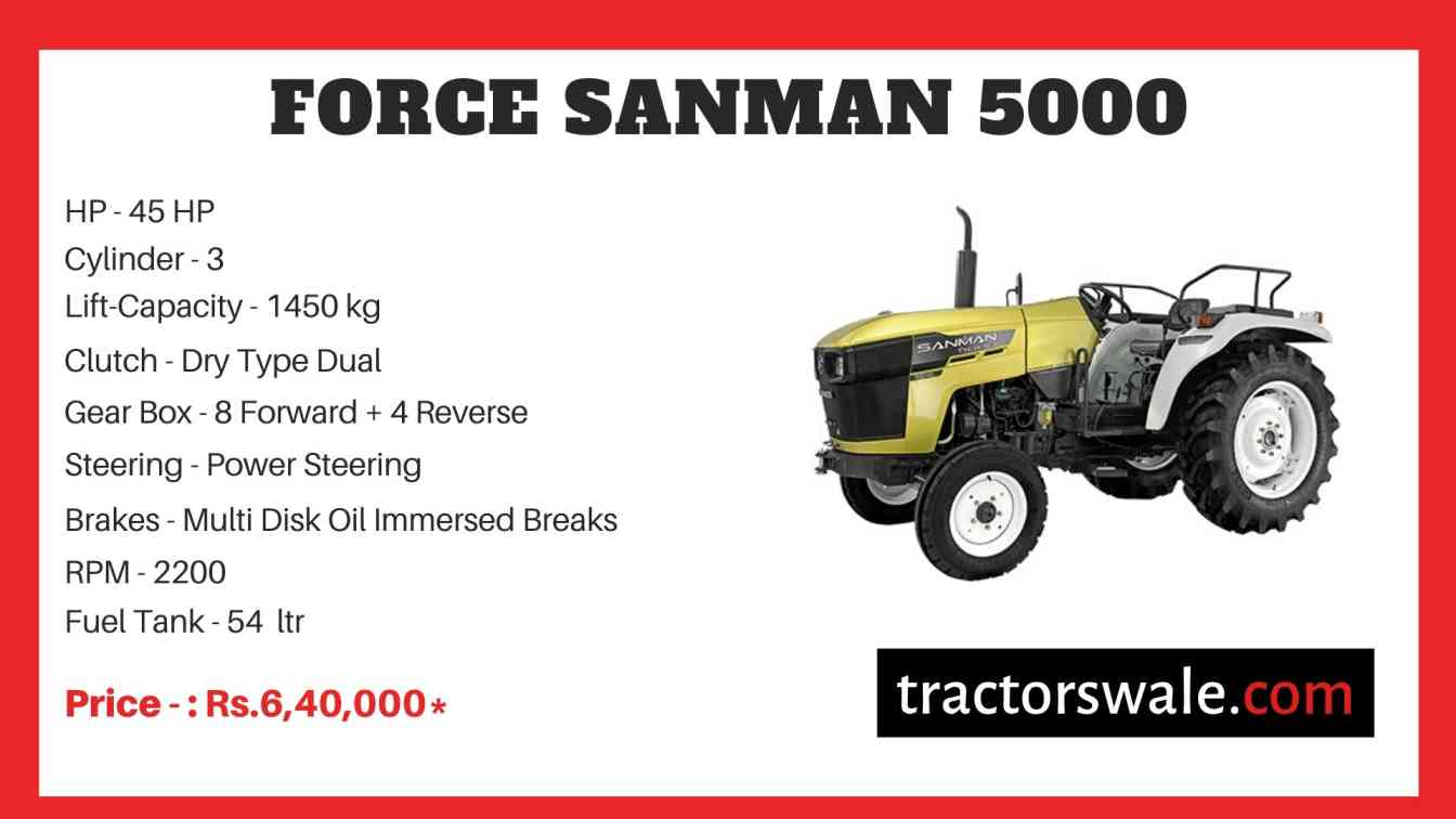 Force Sanman 5000 Tractor Price