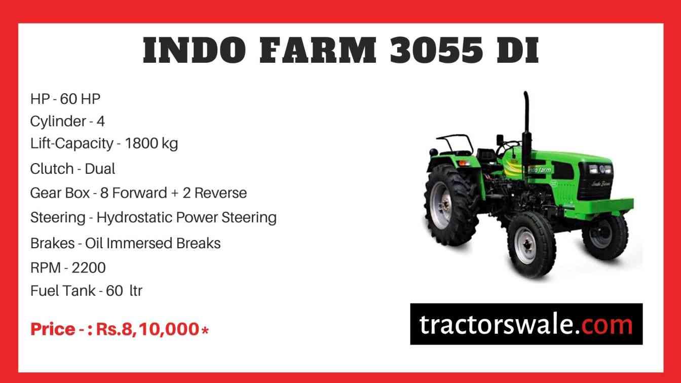 Indo Farm 3055 DI Tractor Price