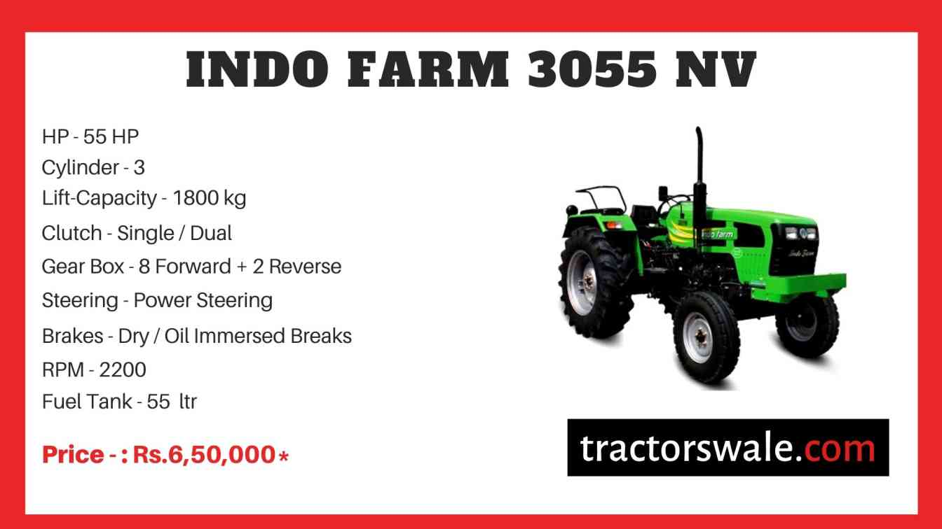 Indo Farm 3055 NV Tractor Price