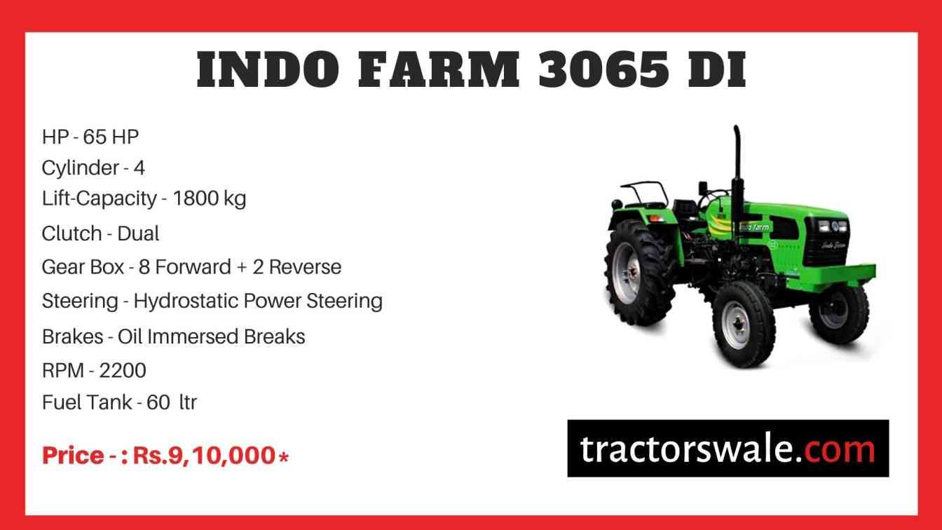 Indo Farm 3065 DI Tractor Price