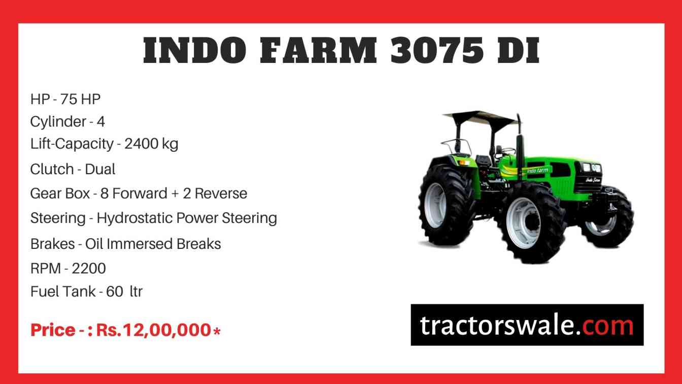 Indo Farm 3075 DI Tractor
