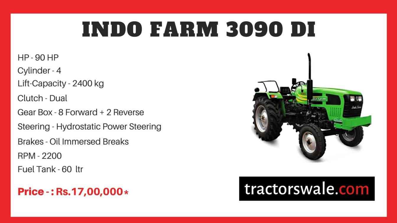 Indo Farm 3090 DI Tractor Price