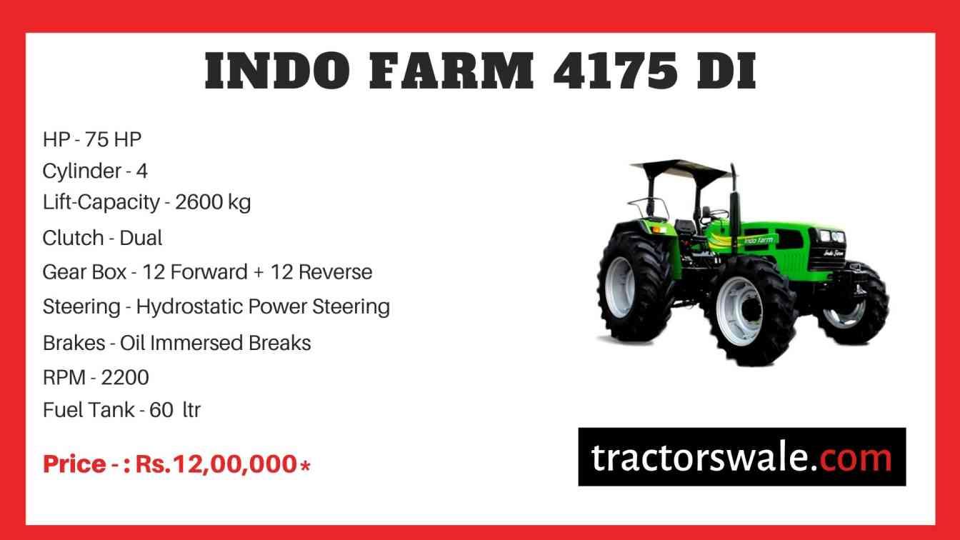 Indo Farm 4175 DI Tractor Price