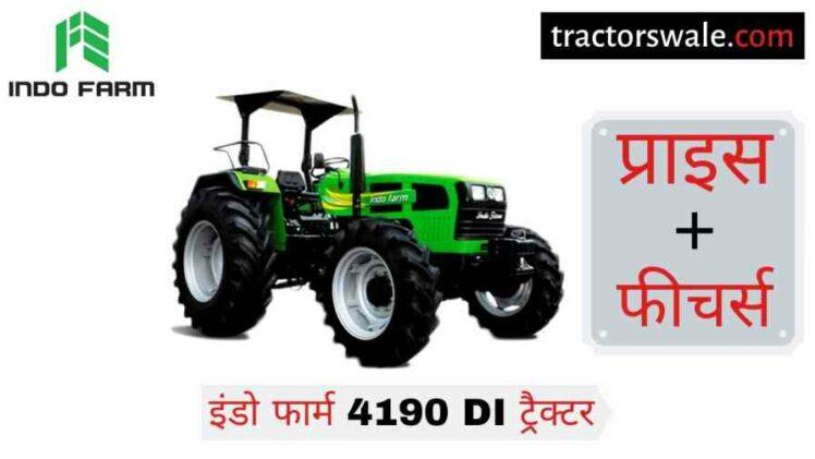 Indo Farm 4190 DI Tractor Price Specifications Mileage [2020]