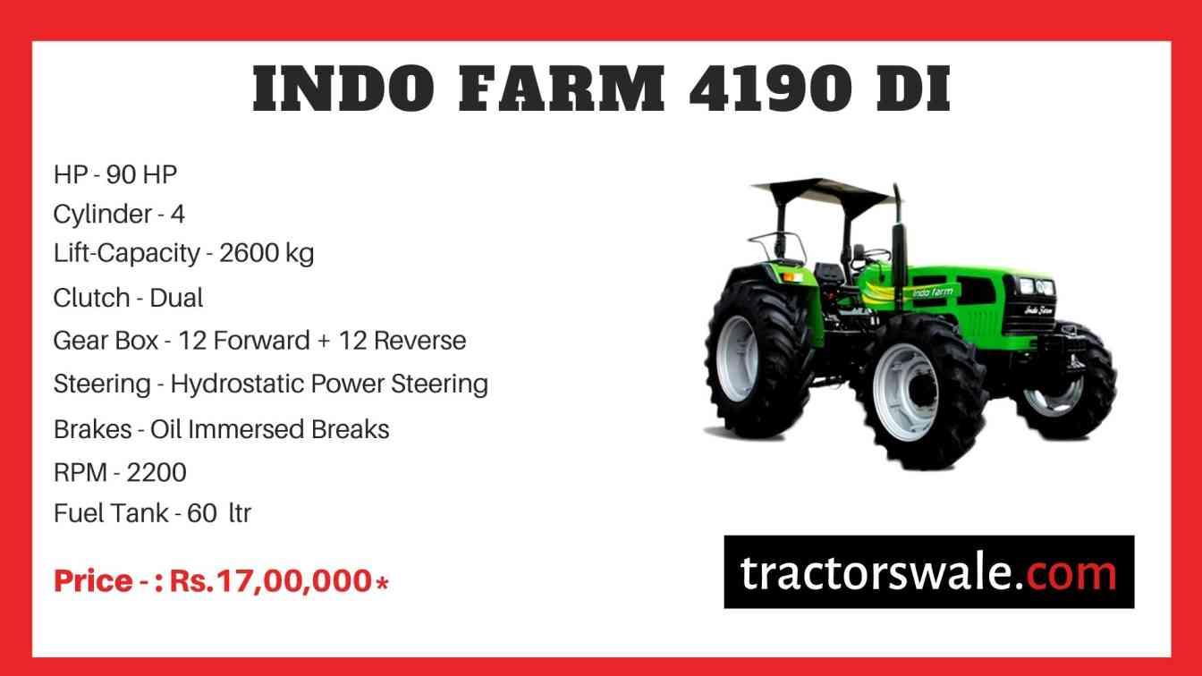 Indo Farm 4190 DI Tractor Price