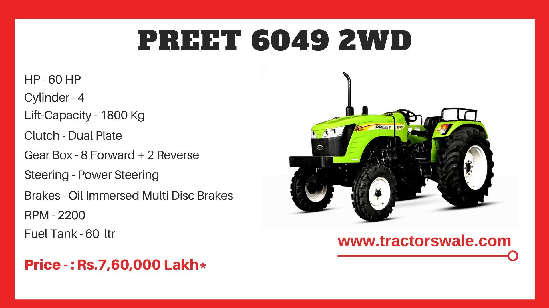 Preet 6049 tractor price