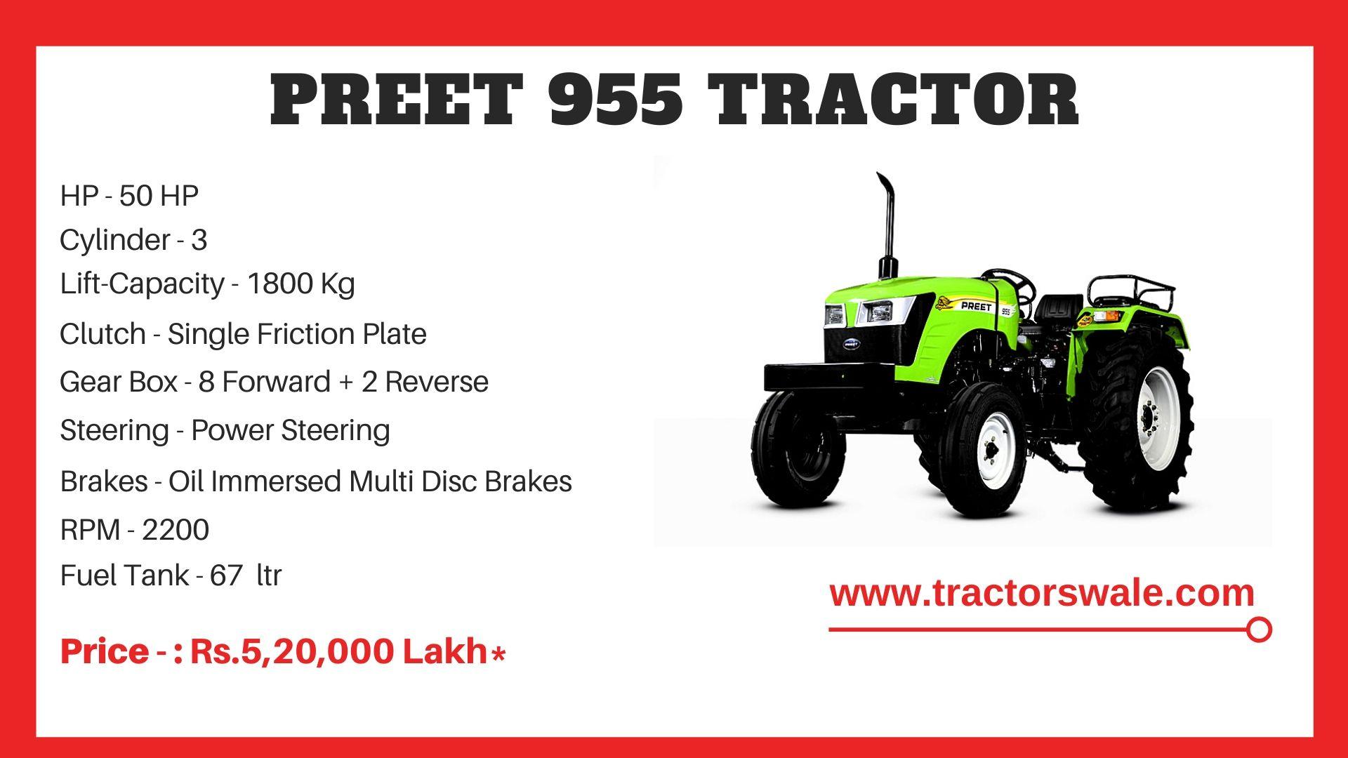 Preet 955 tractor price