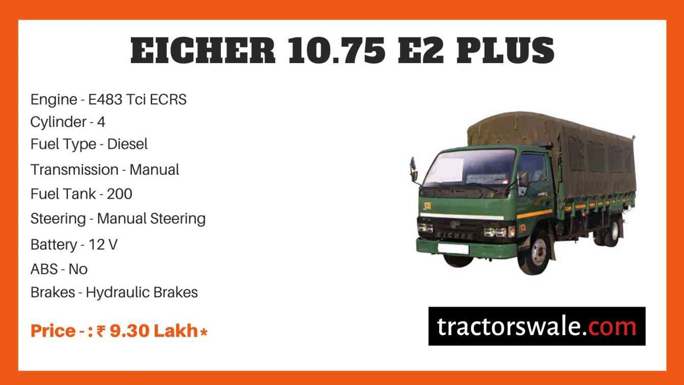Eicher 10.75 E2 Plus Truck