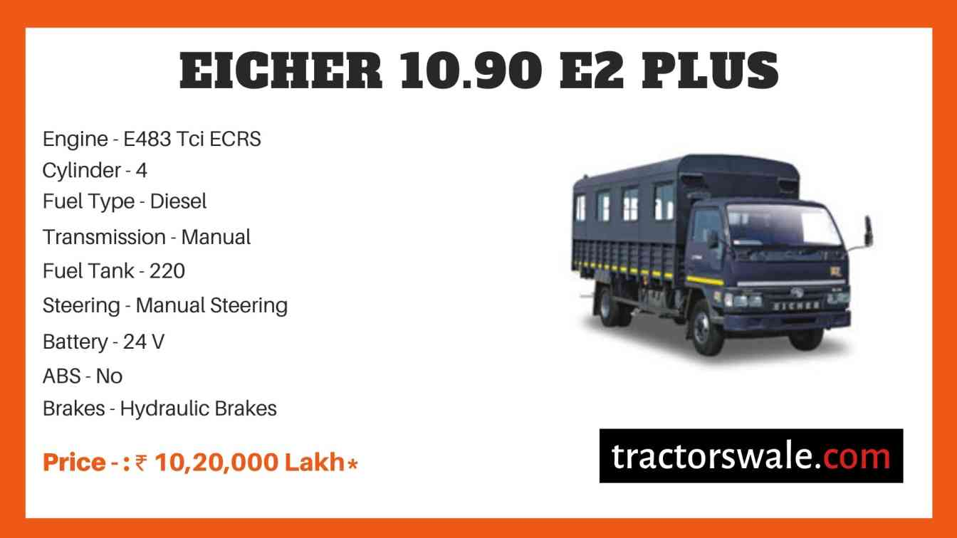 Eicher 10.90 E2 Plus Price