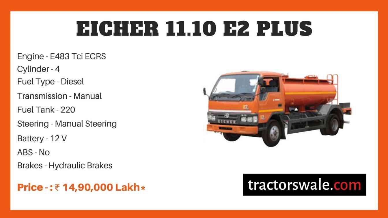 Eicher 11.10 E2 Plus Price