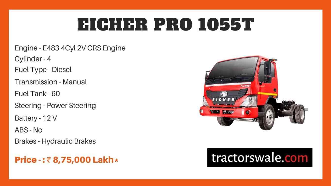 Eicher Pro 1055T Price