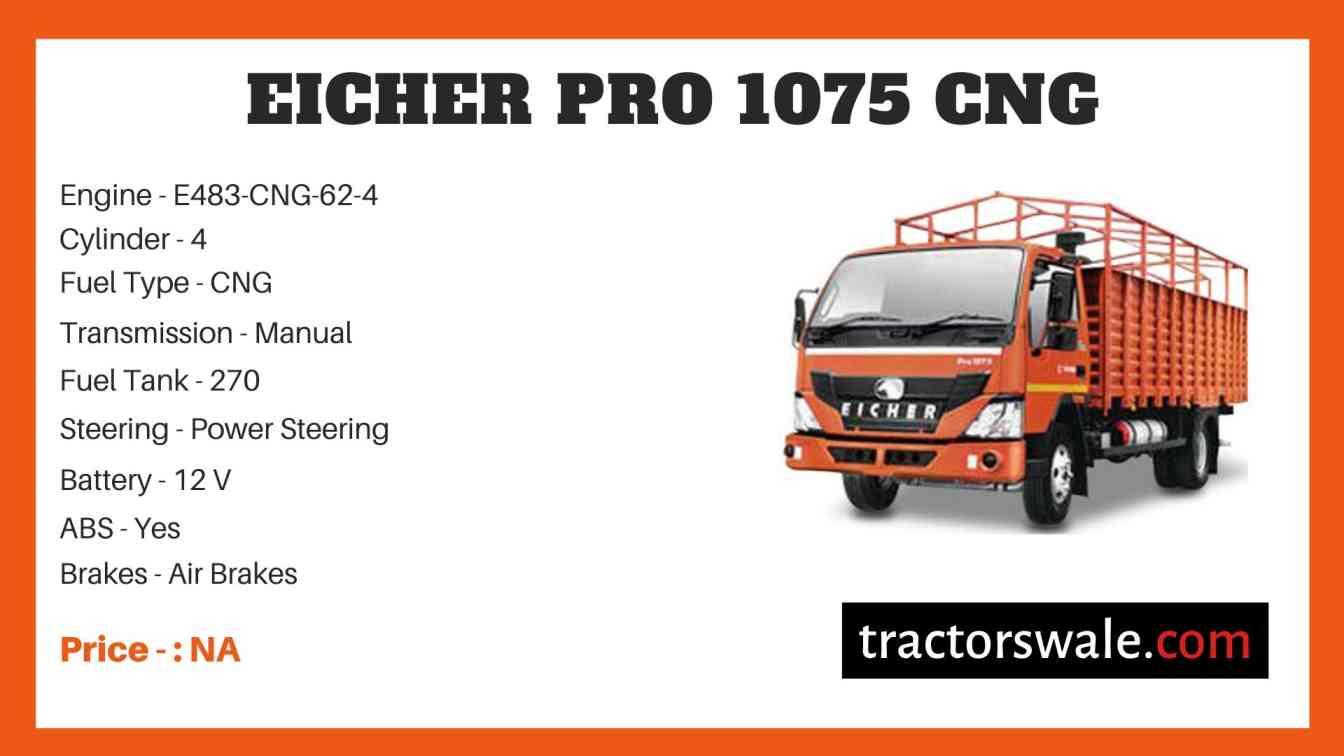 Eicher Pro 1075 CNG Price