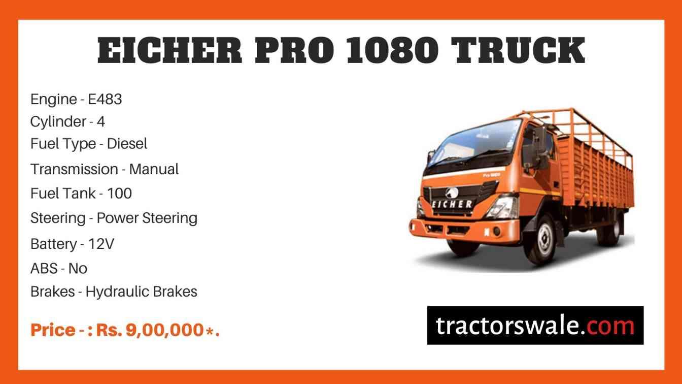 Eicher Pro 1080 Truck Price