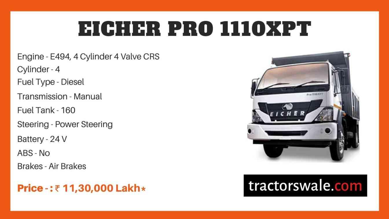 Eicher Pro 1110XPT Price