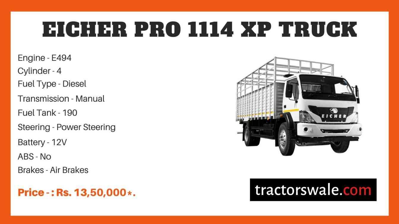 Eicher Pro 1114XP Price